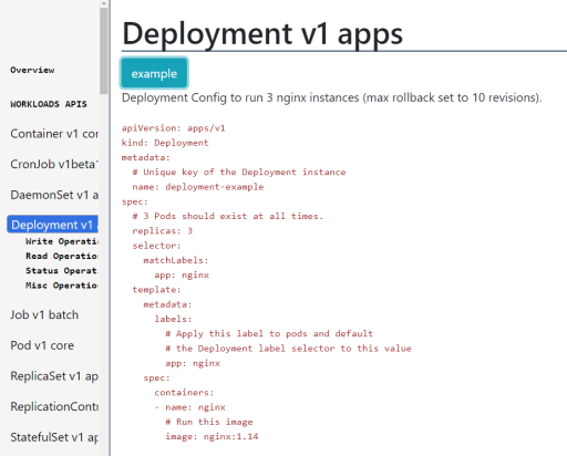 k8s deployment example
